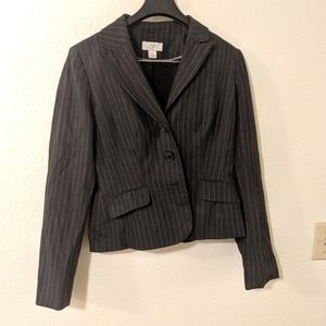 Ann Taylor Career Blazer Jacket Pinstripes Sz 2
